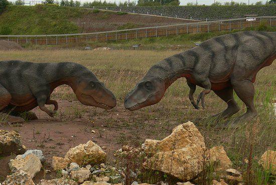 Dinosaurier im Park gefunden