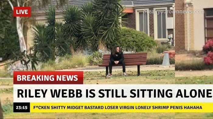 Riley Webb is Still Sitting Alone.