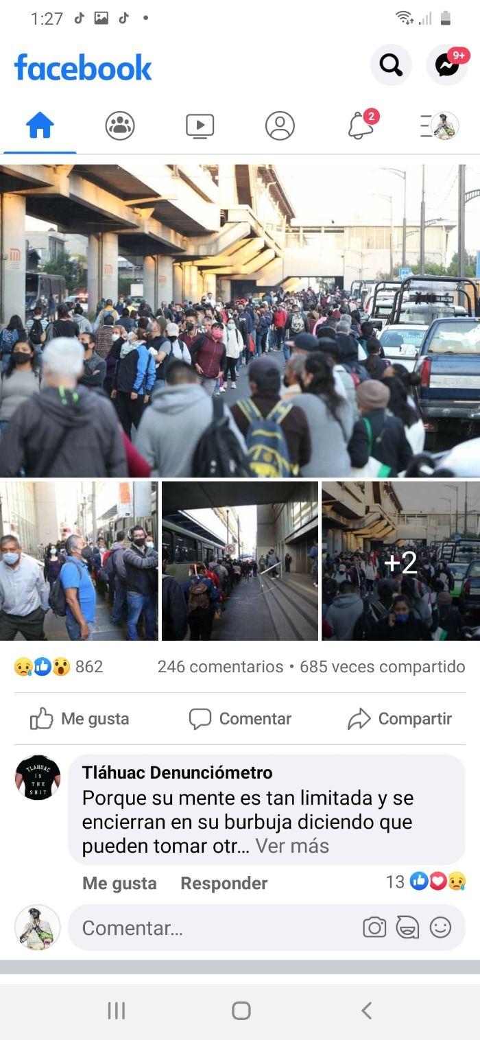 Colapso vial por la tragedia del metro en tlahuac